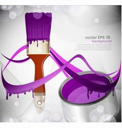 Paint brush paint tin vector