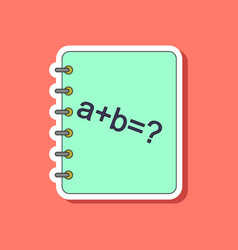 Paper sticker on stylish background math book vector