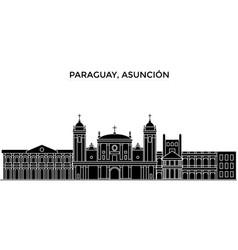 Paraguay asuncion architecture city vector