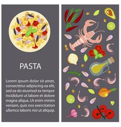 Pasta restaurant menu vector