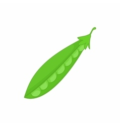 Peas green icon in cartoon style vector image