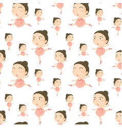 Seamless background template with girl doing vector