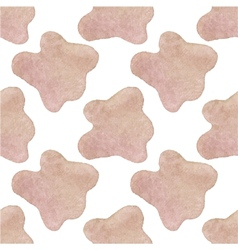 Seamless watercolor pattern with cow hide on the vector