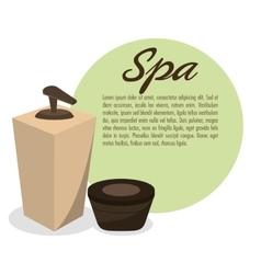 Spa treatment cream organic vector