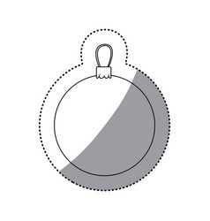 sticker silhouette garland christmas decorative vector image