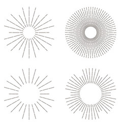 sunburst set sunshine vector image