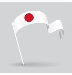 Japanese wavy flag vector image