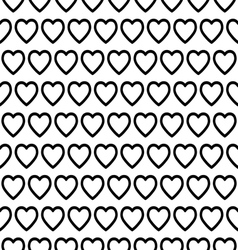 Seamless heart pattern vector