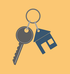 Icon key icon from the house flat vector