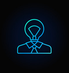 light bulb head colorful icon vector image