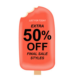 Sale poster with ice cream vector