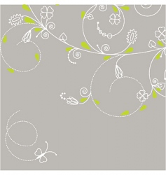 greeting card with butterfly vector image