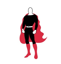Hero in a raincoat vector image