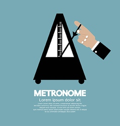Metronome for music practicing vector