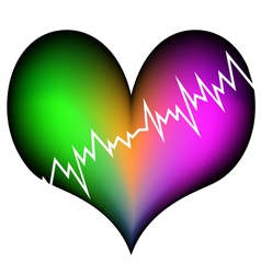 Colorful heart attack vector