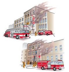 911 rescue scenarios vector