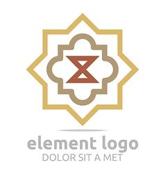 Logo Brown Element Arrow Arch Design Symbol Icon vector image
