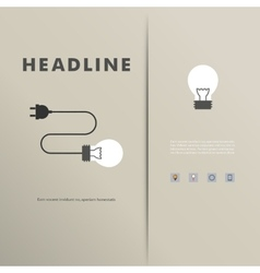 Template with light bulbs and wires vector