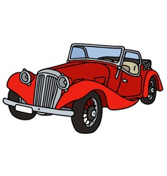 Vintage red cabriolet vector