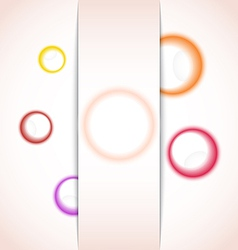 abstract background with multicolor bubble - vector image