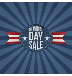 Memorial day sale greeting label vector
