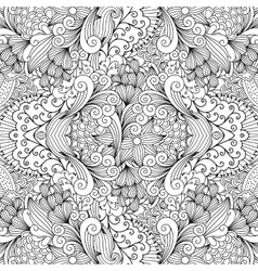 Seamless textile pattern with decorative shapes vector
