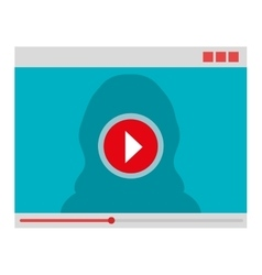 Movie or video loading on webpage vector