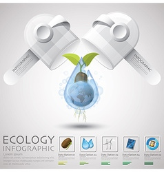 Pill capsule global ecology and environment vector