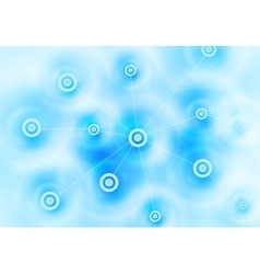 Abstract blue tech communication design vector image