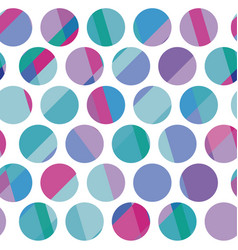 Blue color polka dot motif vector