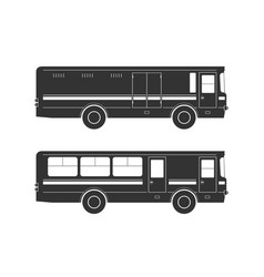 bus silhouettes vector image
