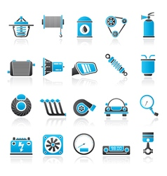 Car part and services icons 2 vector image vector image
