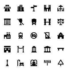 City elements icons 5 vector