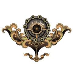 Cyclist emblem vector