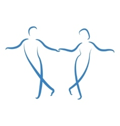 Dancing couple logo vector