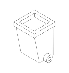 Dumpster on wheels icon isometric 3d style vector