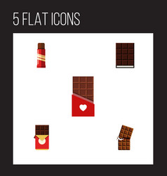 Flat icon bitter set of dessert sweet chocolate vector