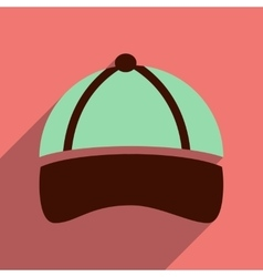 Flat icon with long shadow sports cap vector