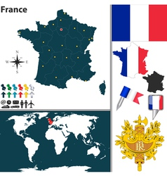 France map world vector image vector image