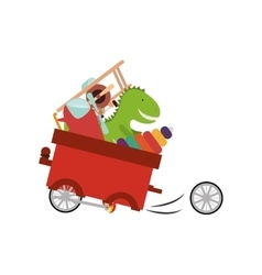 Isolated toy cart damaged design vector image vector image