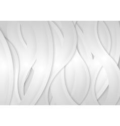 Light grey abstract wavy background vector image