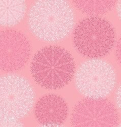 pattern pink circular ornament vector image