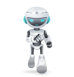 Running cute robot innovation technology science vector