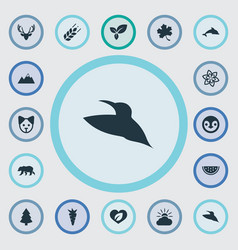 Set of simple geo icons elements polar bear vector