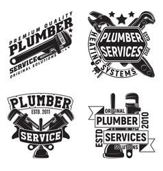 set of vintge emblem design vector image