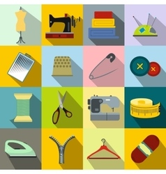 Sewing flat icon vector image vector image