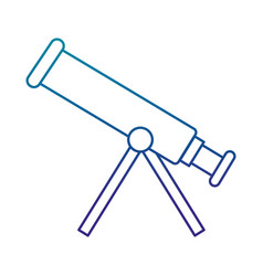 telescope device isolated icon vector image