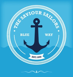 Vintage style nautical anchor vector image vector image