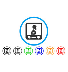 Xray screening rounded icon vector