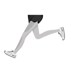 Athletes feet running isolated vector
